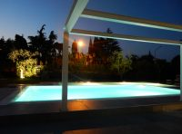 Piscina by night B&B CotroVento Soiano Lago di Garda